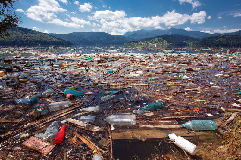 Polluted beautiful landscape stock photos