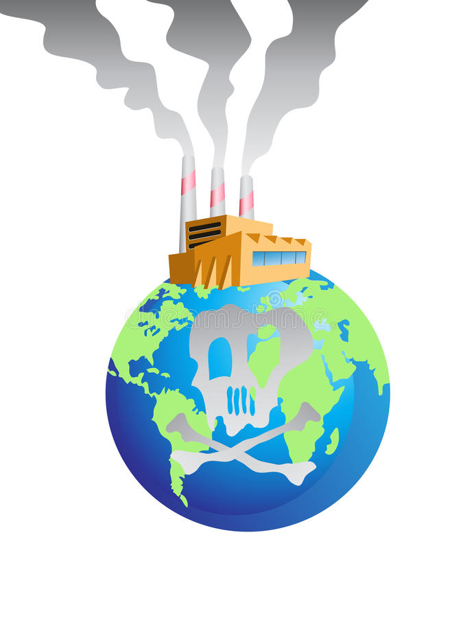 Download Polluted earth stock vector. Illustration of factory - 22273345