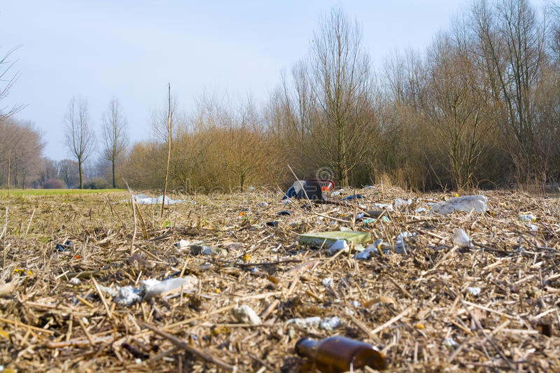 Download Polluted landscape stock image. Image of disposal, dirt - 13484725