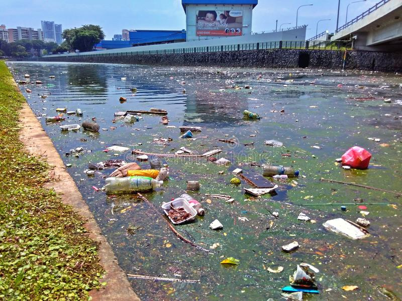 Download Polluted river canal editorial photo. Image of disposal - 76216146