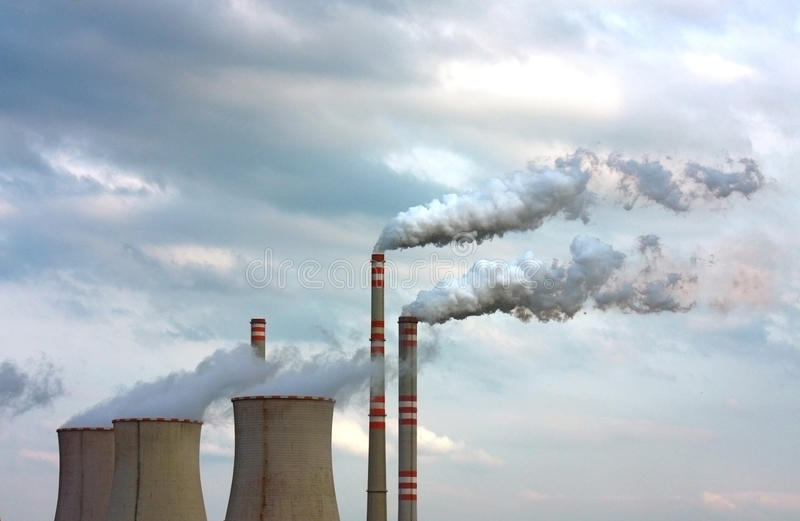 Polluted smoke from factory stock photos