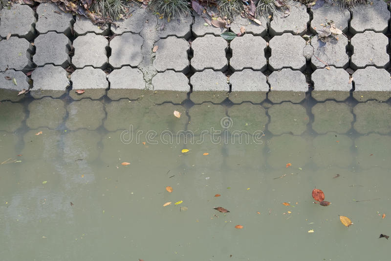 Polluted water stock image