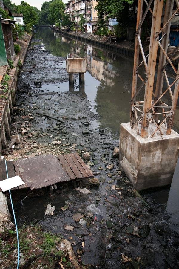 Sewage. Polluted water in the canal background chemical clean conduit danger dirt dirty ecology environment environmental factory flow garbage industrial royalty free stock images