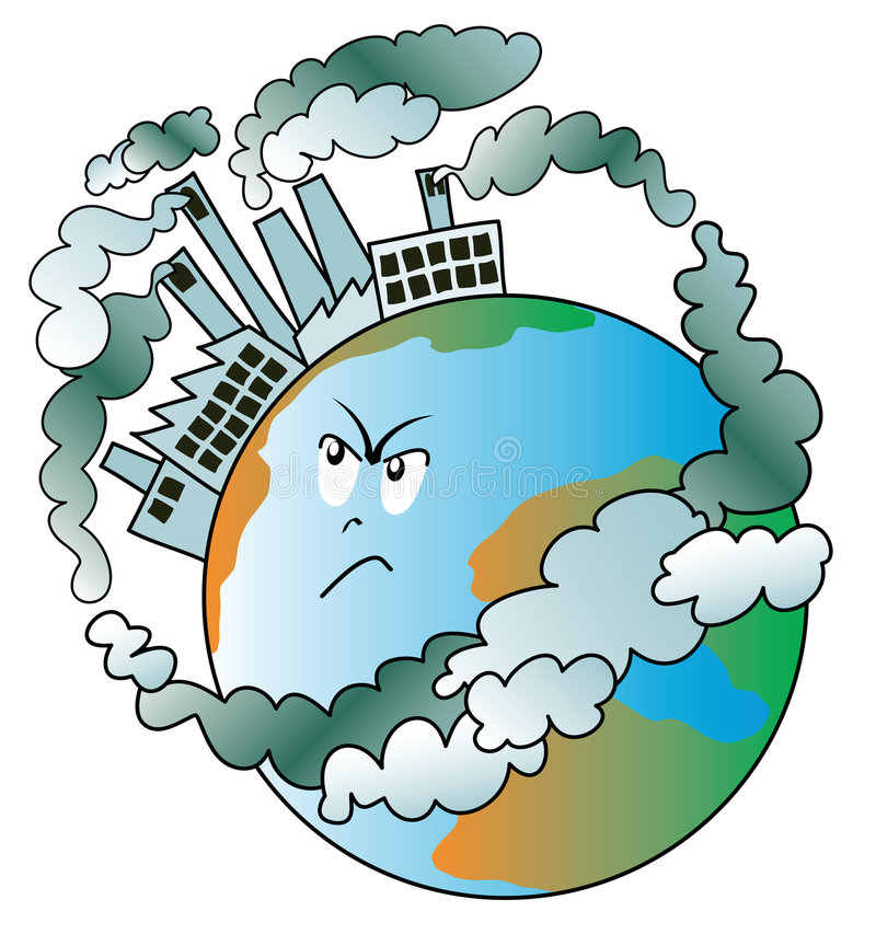 Polluted world stock illustration