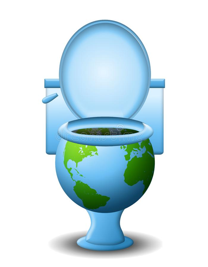 Polluting The Earth Stock Photo