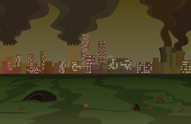 Pollution illustration de vecteur