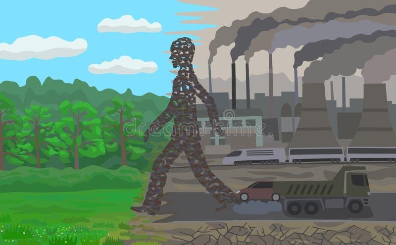 pollution illustration stock