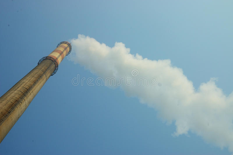 Pollution atmosphérique photo stock