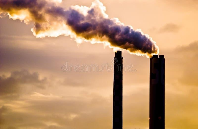 Pollution atmosphérique ; Bâle   photographie stock