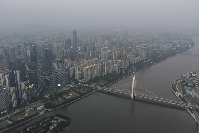 Pollution atmosphérique en Chine images libres de droits