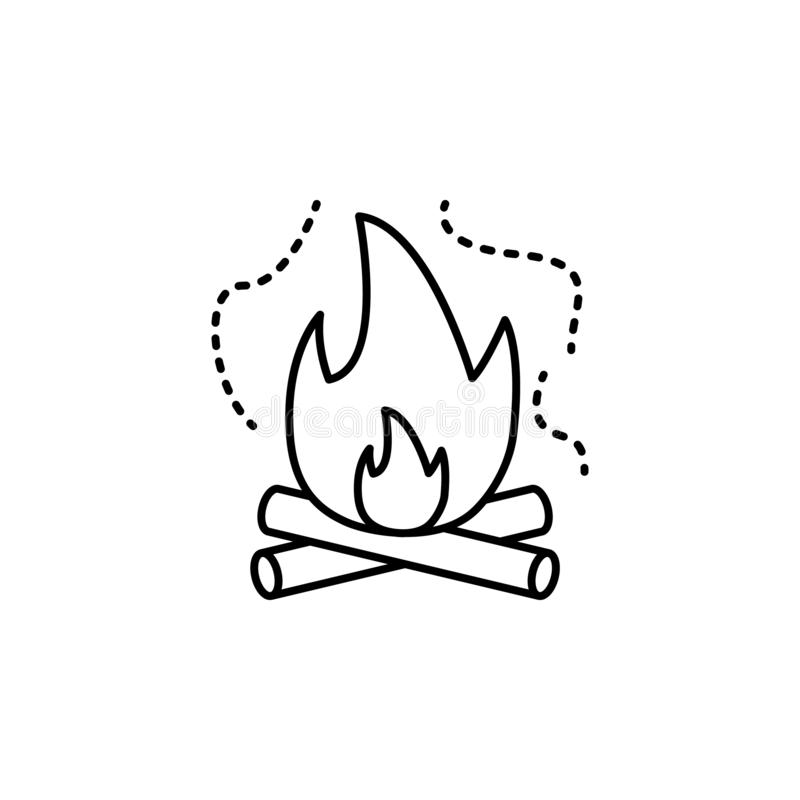 pollution atmosphérique, le feu, icône de brûlure Élément de la pollution atmosphérique pour le concept et l'icône mobiles d'appl illustration libre de droits