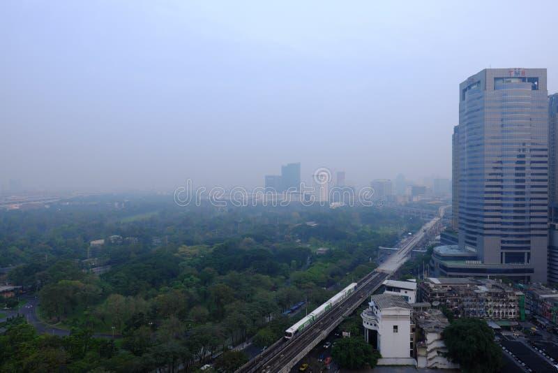 Pollution in Bangkok, Thailand royalty free stock image