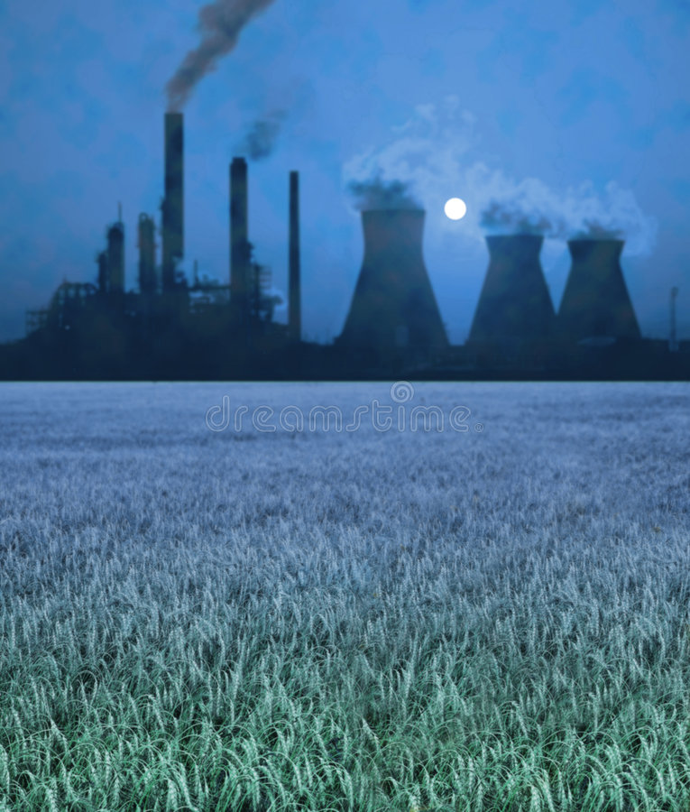 Pollution - blur stock photo