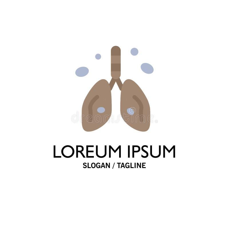 Pollution, Cancer, coeur, poumon, affaires Logo Template d'organe couleur plate illustration stock