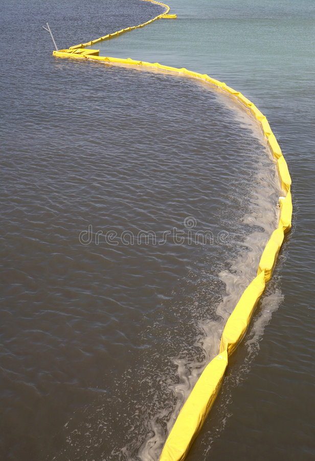Pollution control barrier royalty free stock photos