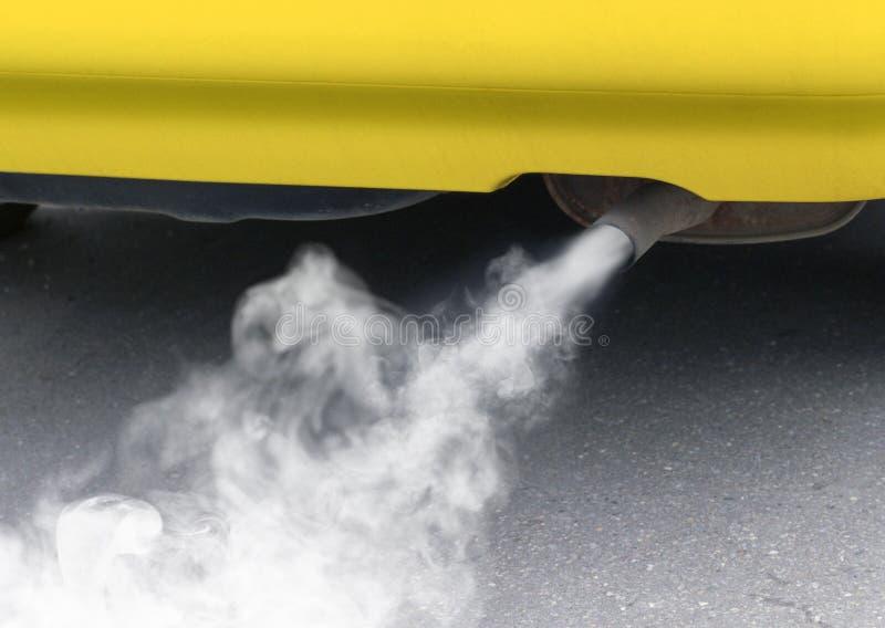 Pollution d'environnement d'un véhicule images stock