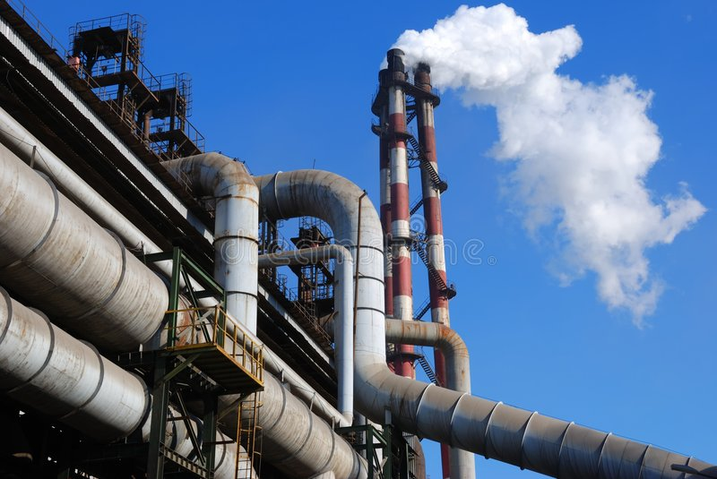 pollution d'industrie photo stock