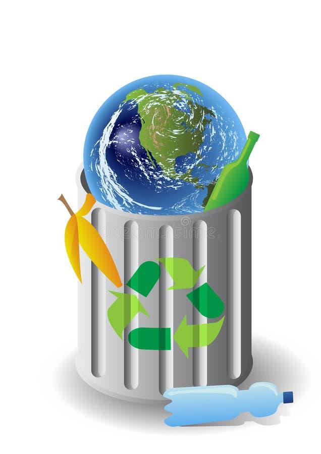 pollution d'ordures de la terre illustration libre de droits