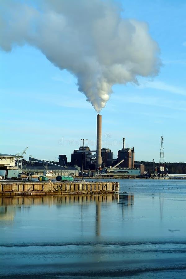 Pollution de centrale photographie stock