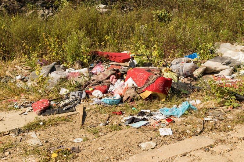 Pollution de déchets image stock