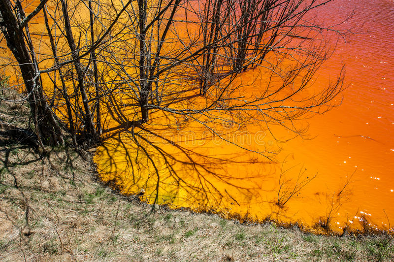 Pollution de l'eau photos stock