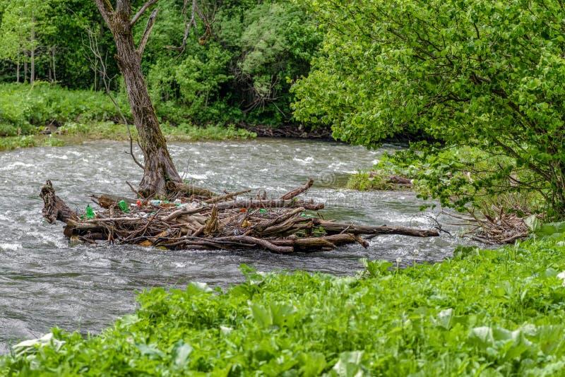 Pollution de l'eau ambiante photo libre de droits