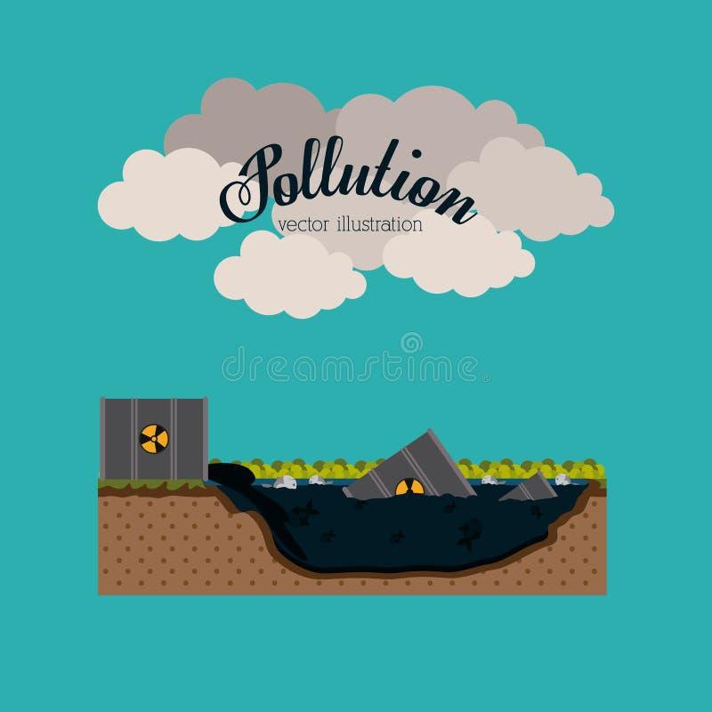 Pollution design,vector illustration. vector illustration