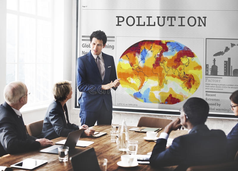 Pollution Dirty Chemical Problem Smog Smoke Concept stock photography