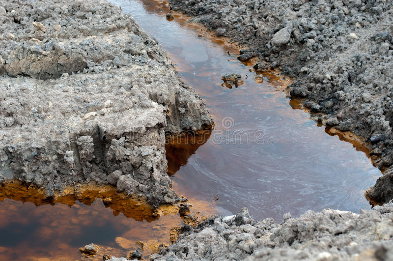 Pollution du sol photos stock