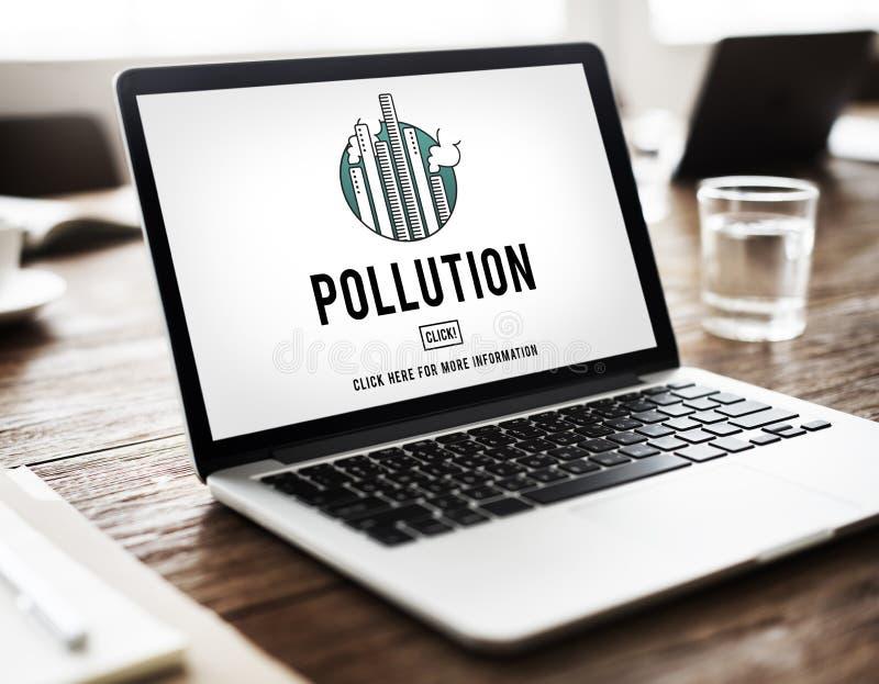 Pollution Emission Fog Hazard Mist Pollute Smog Concept stock photos