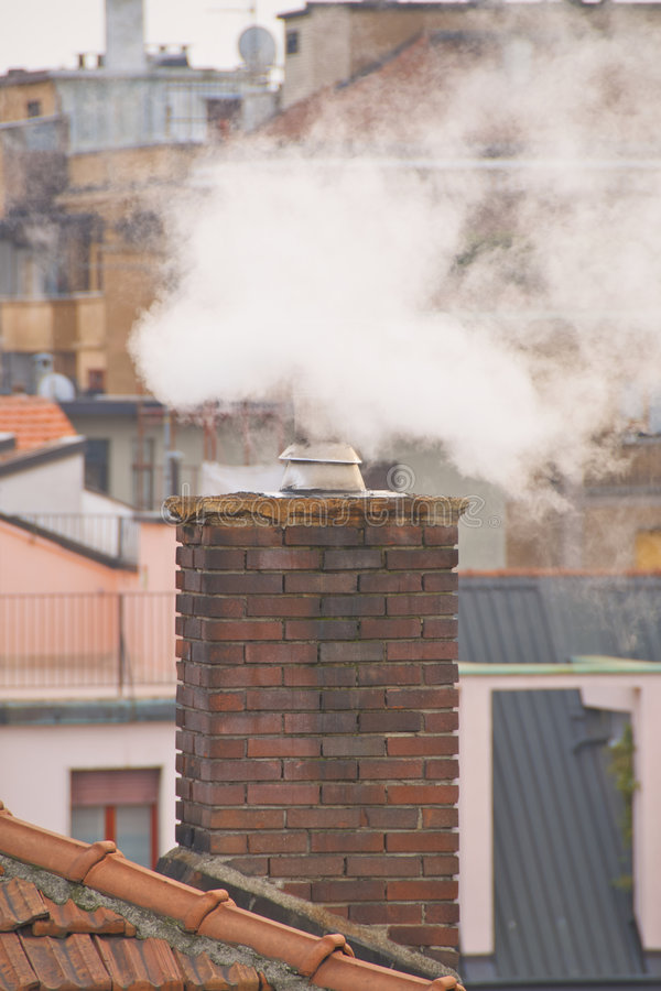 Free Pollution From A Chimney Stock Photography - 8331562