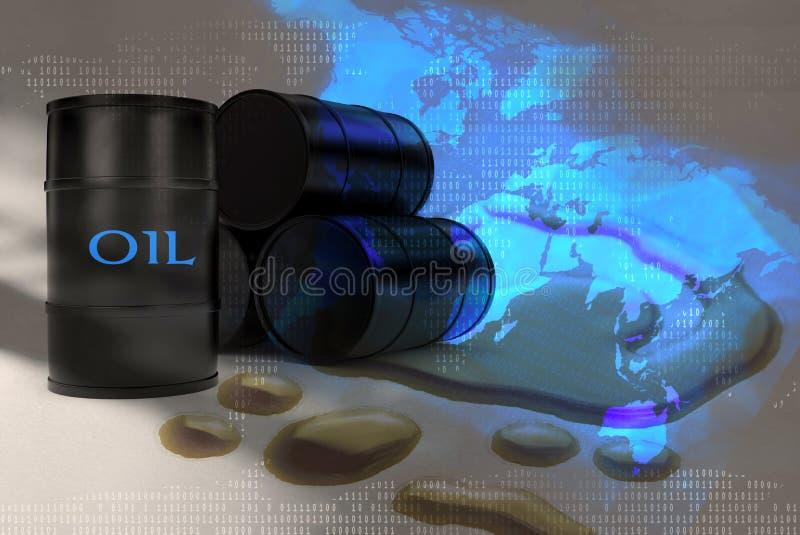 Pollution globale illustration stock