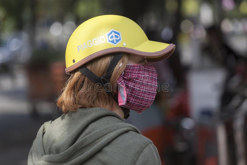 Pollution in Ho Chi Minh city stock photos