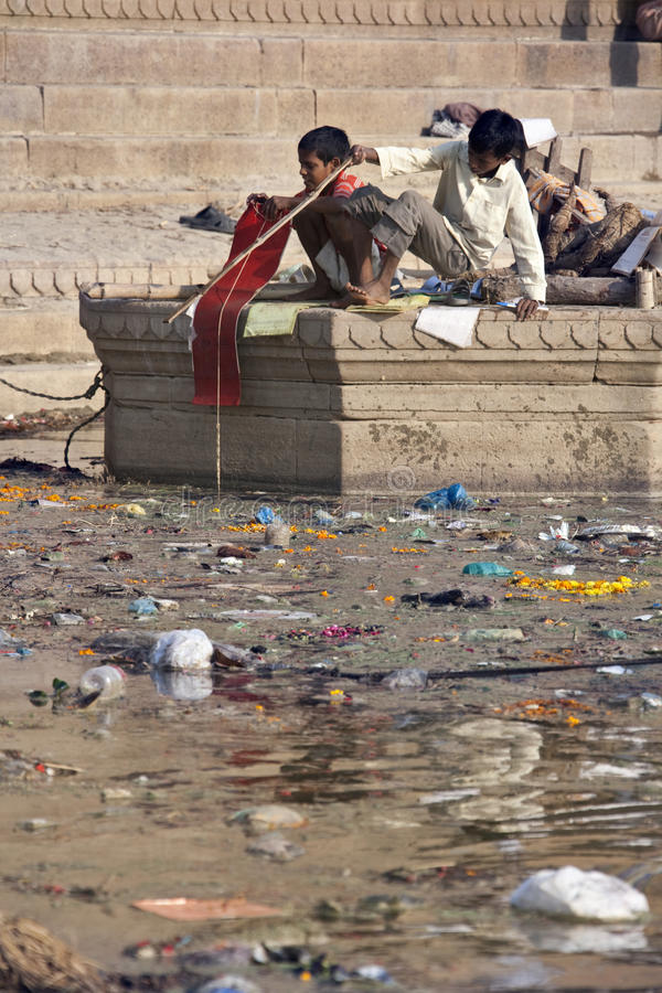 Download Pollution In The Holy River Ganges - India Editorial Photography - Image: 15497292