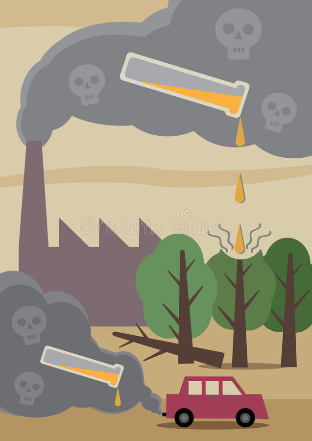 Download Pollution stock vector. Illustration of fumes, skull - 39505918