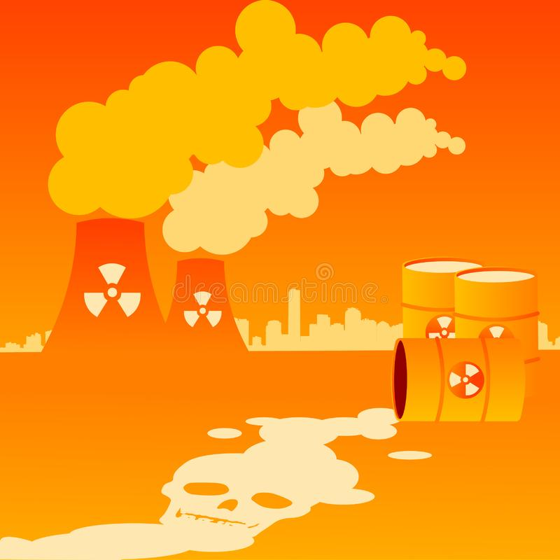 Pollution industrielle photo stock