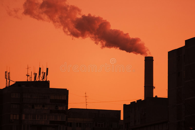 Pollution industrielle images stock