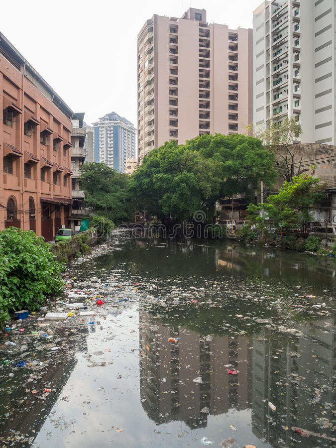 Pollution in Manila stock photography