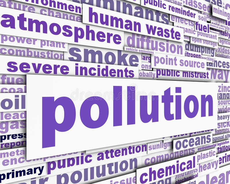 Download Pollution Message Conceptual Design Stock Image - Image: 25642579