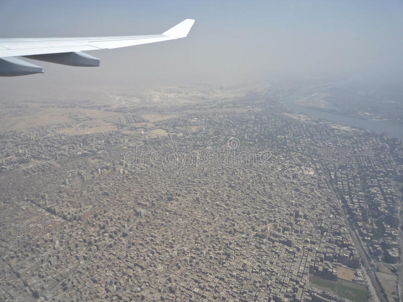 Pollution Over Cairo City Stock Photography