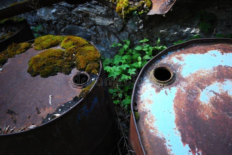Pollution pétrolière photographie stock libre de droits