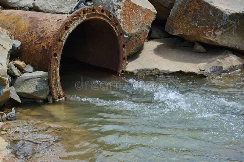 Download Pollution Pipe stock image. Image of river, rusty, sewer - 15108427