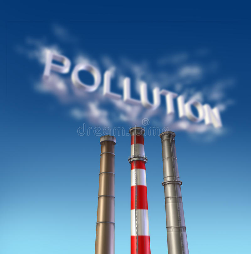 Free Pollution Poison Smoke Stack Royalty Free Stock Images - 16075139