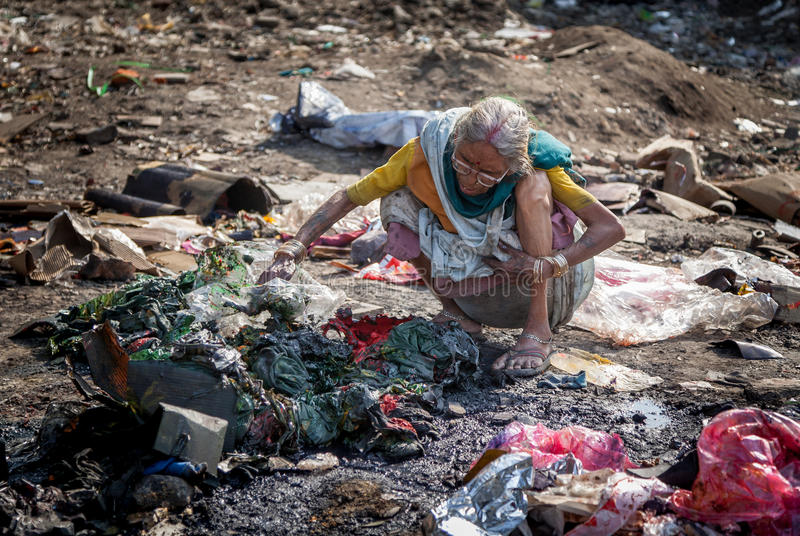Pollution and poverty stock photography