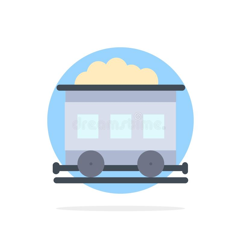 Pollution, Train, Transport Abstract Circle Background Flat color Icon royalty free illustration