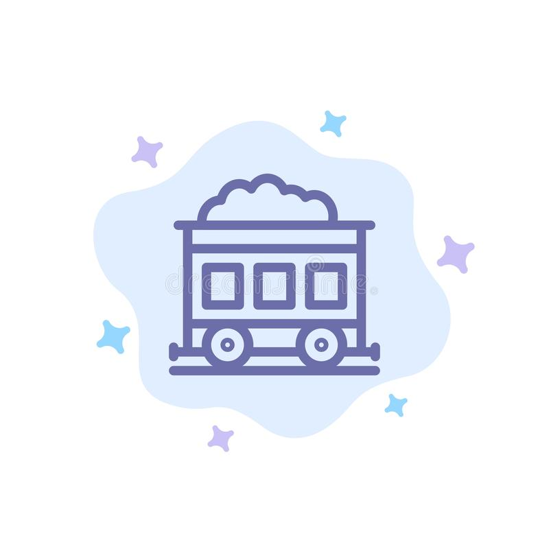 Pollution, Train, Transport Blue Icon on Abstract Cloud Background royalty free illustration