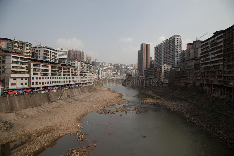 Pollution and urbanization in China royalty free stock image