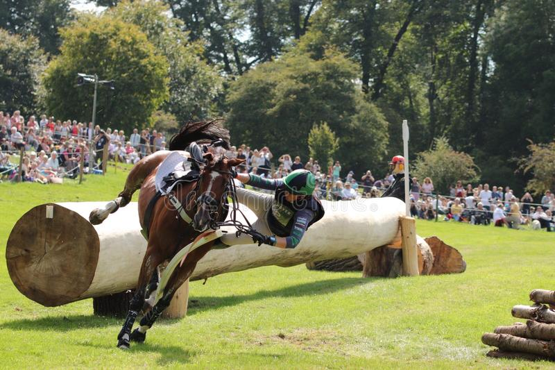 Polly Stockton Burghley Horse Trials lizenzfreie stockfotos