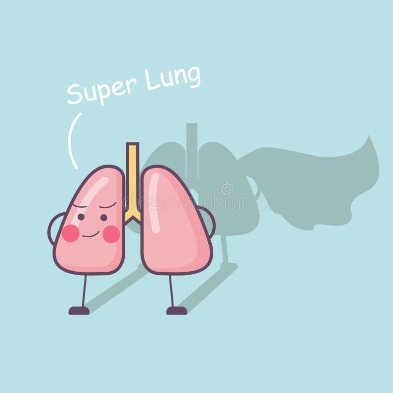 Polmone eccellente di salute illustrazione vettoriale