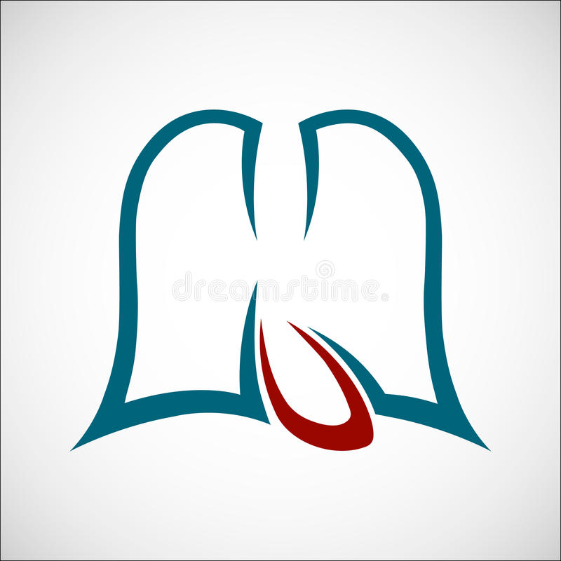 Polmoni e profilo del cuore immagini stock libere da diritti